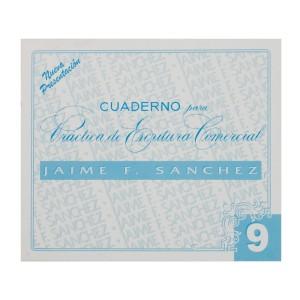 CUADERNOS DE CALIGRAFIA JAIME SANCHEZ # 9 (50)