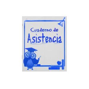 CUADERNO P/ASISTENCIA CORTO 14H. 34 ALUMNOS (25)