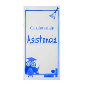 CUADERNO P/ASISTENCIA LARGO 14H. 52 ALUMNOS (25)