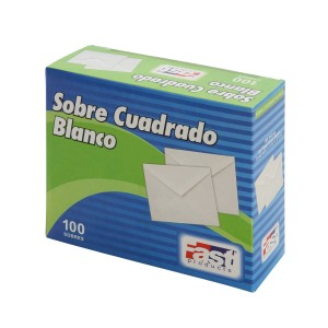 SOBRE BLANCO FAST CUADRADO CX100 BOND 75 GRS.  (20)