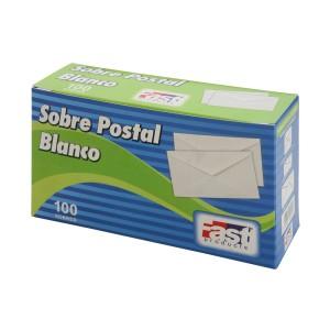 SOBRE BLANCO FAST POSTAL CX100 BOND 75 GRS. (20)