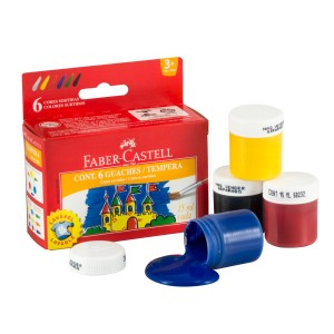 TEMPERA FABER CASTELL 6 COLORES (36)