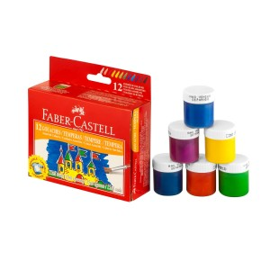 TEMPERA FABER CASTELL 12 COLORES (30)