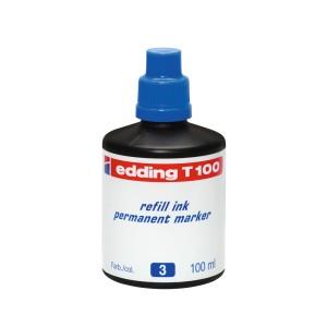 TINTA PERMANENTE EDDING T-100 DE 100 ML. AZUL (60)