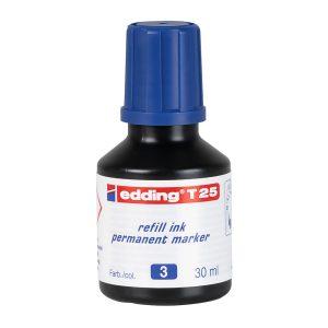 TINTA PERMANENTE EDDING T-25 DE 30 ML. AZUL  (30X10)