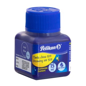 TINTA CHINA PELIKAN NO. 523 AZUL 15ML. (10)