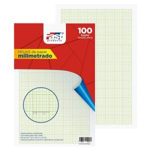 HOJAS MILIMETRADAS FAST OFICIO BX100 VERDE (5)