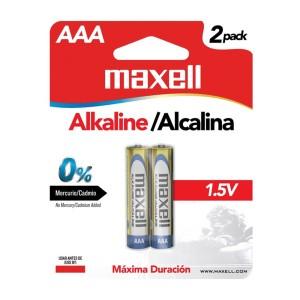 BATERIA MAXELL LR-03 AAA ALKALINA BLISTER X 2 (48)
