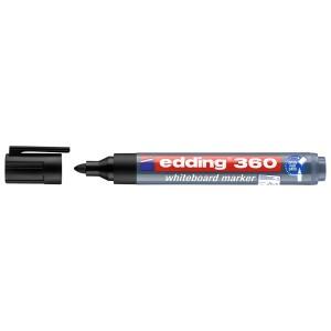 MARCADOR P/PIZARRA EDDING 360 P/REDONDA REC. 1 NEGRO (40X10)