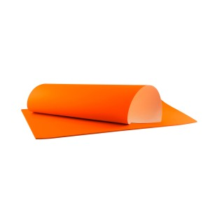 PAPEL FLUORESCENTE IMPERIAL 50X70 CMS. NARANJA  (100)