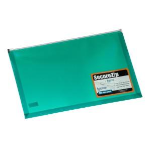 SOBRE PLASTICO BEAUTONE 3566-3 C/ZIPPER OFICIO VERDE (72)