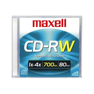 CDRW-80MI MAXELL 4X REGRABABLE (100)