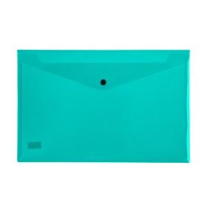 SOBRE PLASTICO BEAUTONE 3427-3 C/BROCHE OFICIO VERDE (10X12)