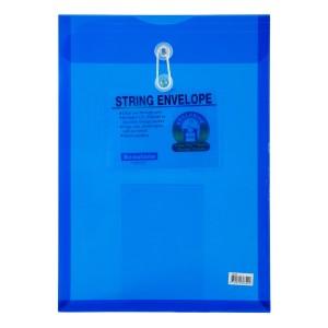 SOBRE PLASTICO BEAUTONE 3664-2 C/PITA OFICIO AZUL (10X25)