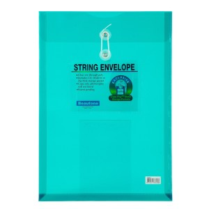 SOBRE PLASTICO BEAUTONE 3664-3 C/PITA OFICIO VERDE (10X25)