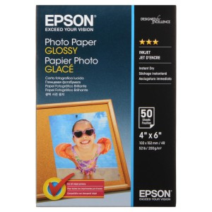 PAPEL FOTOGRAFICO EPSON S041809 4X6 50 H. GLOSSY