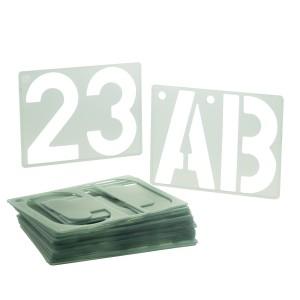 PLANTILLA  PLASTICA COX P-1900 LETRAS Y NUM. 150MM.  ( 8X03)