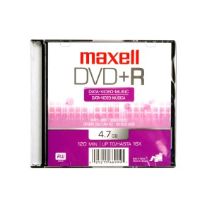 DVD+R MAXELL 4.7 GB. CAJA SLIM (10X5)