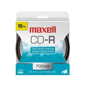 CDR-80MIN MAXELL 48X TUBO X 10 (40)