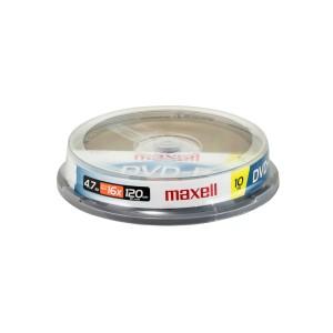 DVD-R MAXELL 4.7 GB. TUBO X 10 (40)