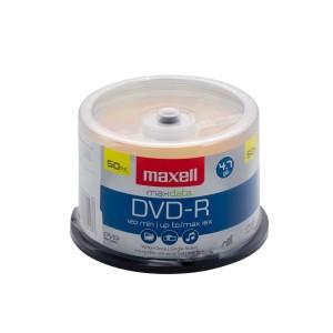 DVD-R MAXELL 4.7 GB. TUBO X 50 (10)