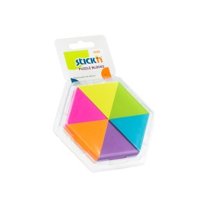BLOCK STICKN 21369 TRIANGULOS 6 COLORES (6X6)