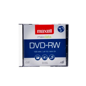 DVD-RW MAXELL 4.7 GB. REGRABABLE CAJA SLIM (50)