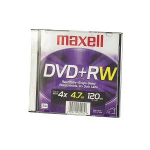 DVD+RW MAXELL 4.7 GB. REGRABABLE CAJA SLIM (50)