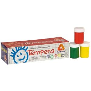 TEMPERA ATENEA 22.5ML ESTUCHE DE 12 COLORES ( 36 )