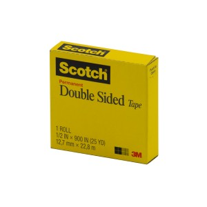 CINTA ADHESIVA SCOTCH 665 DOBLE LADO 1/2″ X 25M (72)