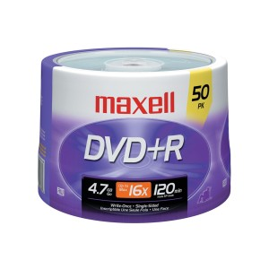 DVD+R MAXELL 4.7 GB. TORRE X 50  (BULK) (10)