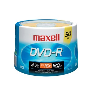 DVD-R MAXELL 4.7 GB. TORRE X 50 (BULK) (10)