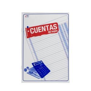 CUADERNO P/CUENTAS (2 COL.) 60H. (12)