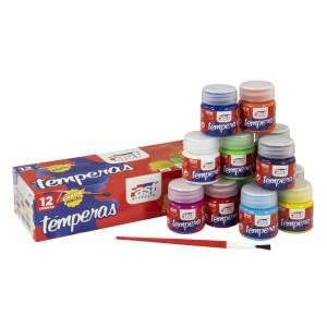 TEMPERA FAST 30ML ESTUCHE DE 12 COLORES (32)