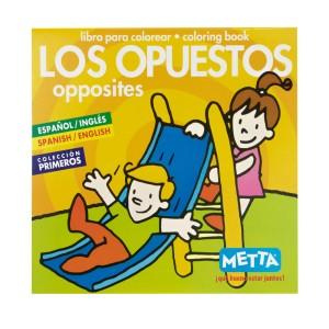 LIBRO PARA COLOREAR LOS OPUESTOS METTA 3031