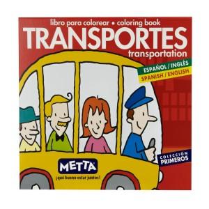 LIBRO PARA COLOREAR LOS TRANSPORTES METTA 3032