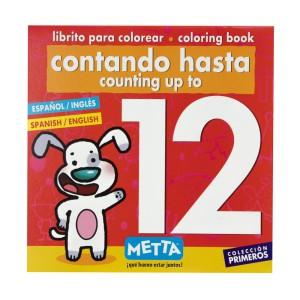 LIBRO PARA COLOREAR CONTANDO HASTA EL 12 METTA 3021