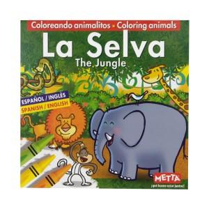 LIBRO PARA COLOREAR LA SELVA METTA 3022