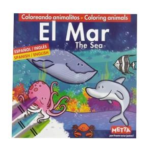 LIBRO PARA COLOREAR EL MAR METTA 3023