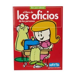 LIBRO PARA COLOREAR LOS OFICIOS METTA 3028
