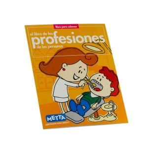 LIBRO PARA COLOREAR LAS PROFESIONES METTA 3029