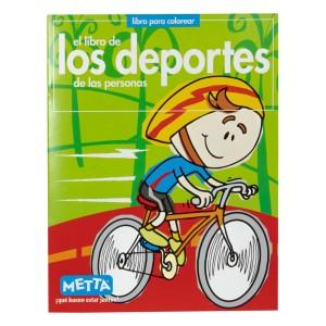 LIBRO PARA COLOREAR LOS DEPORTES METTA 3030