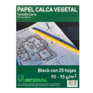 BLOCK PAPEL CALCO GATEWAY/IMPERIAL 90/95 GRS. CARTA 25 H. (25)