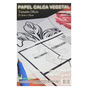 BLOCK PAPEL CALCO GATEWAY/IMPERIAL 90/95 GRS. OFICIO 25 H. (25)