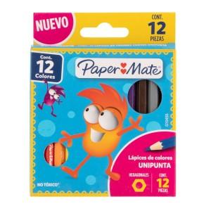 CRAYON DE MADERA PAPER MATE 1746748 12 COL. CORTO (480)