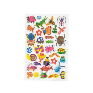STICKERS FAST 205 PLASTIC INSECTOS 1 HOJA (12X24)
