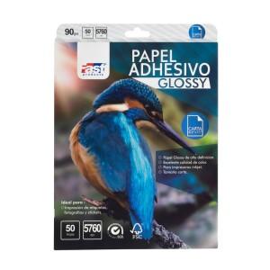 PAPEL ADHESIVO FAST CX50 CARTA 90 GRS GLOSSY (28)