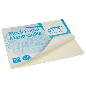 BLOCK PAPEL MANTEQUILLA FAST 13X17 100 H. (20)