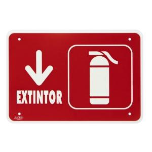 """SEÑALIZACION SABLON 7953 35X24CM. """"EXTINGUIDOR"""""""