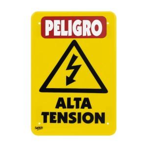 """SEÑALIZACION SABLON 7971 35X24CM. """"PELIGRO ALTA TENSION"""""""
